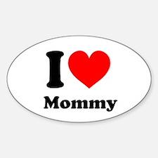 I Heart Mommy Sticker (Oval 10 pk)