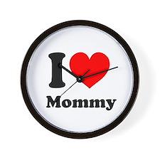 I Heart Mommy Wall Clock