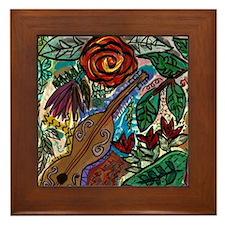 Garden Music Framed Tile
