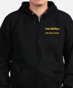 Personalized Call Sign Zip Hoodie (dark)