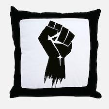 Rough Fist Throw Pillow