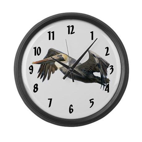 Pelican Flying Large Wall Clock 17 inch
