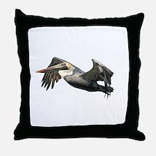 Pelican Flying Throw Pillow