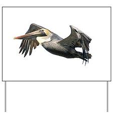 Pelican Flying Yard Sign