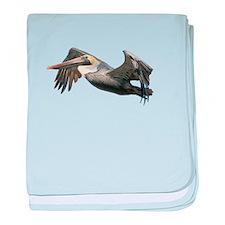 Pelican Flying baby blanket