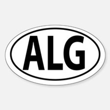 ALG - Algeria Sticker (Oval)