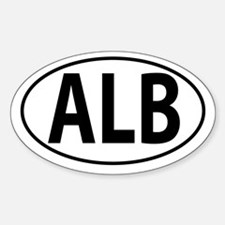 ALB - Albania Sticker (Oval)