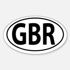 GBR - Great Britain - England Sticker (Oval)