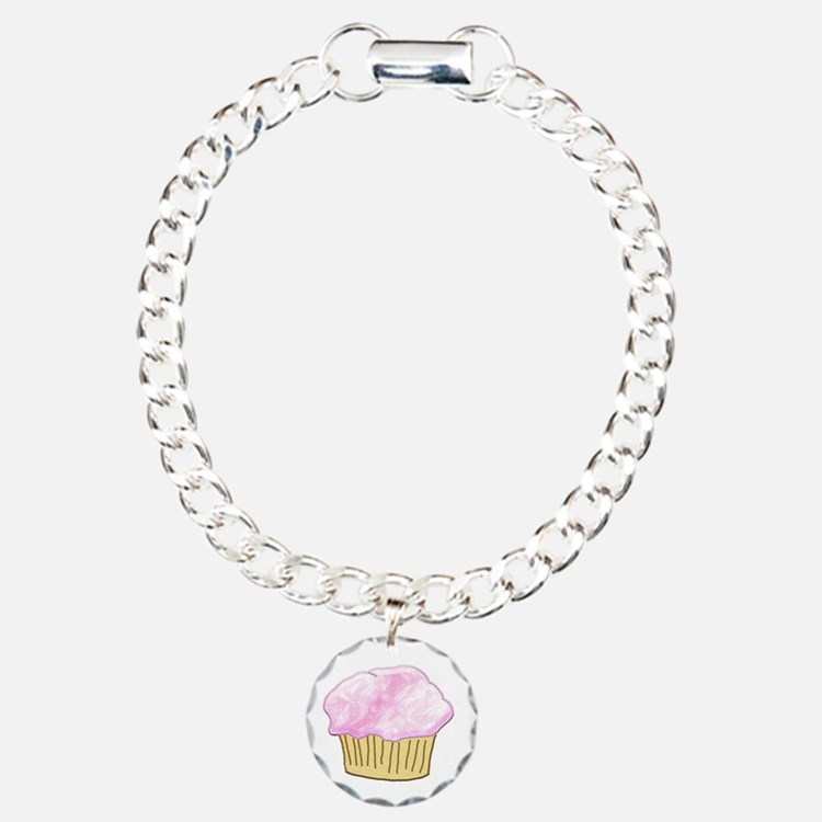 Pink Sugar Cupcake Bracelet