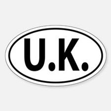 UK - United Kingdom Oval decal