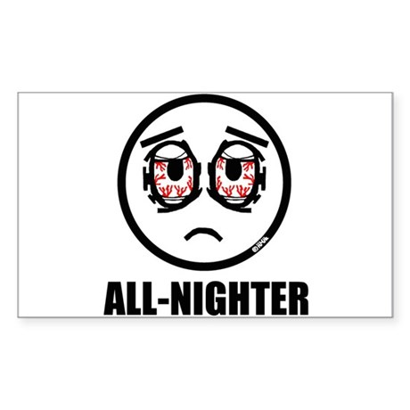 All-nighter Sticker (Rectangle)