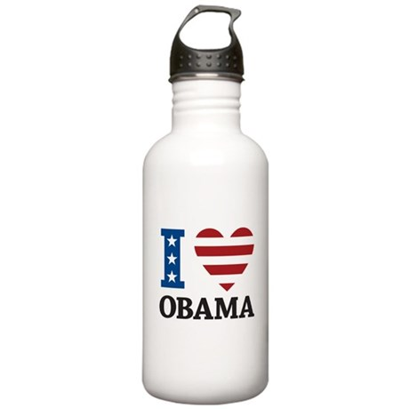 I Love Obama Stainless Water Bottle 1.0L