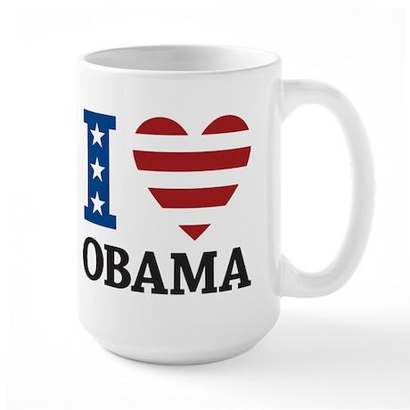 I Love Obama Large Mug