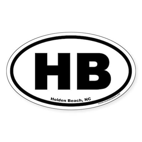 Holden Beach HB Euro Oval Sticker