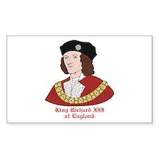 King Richard III Rectangle Decal