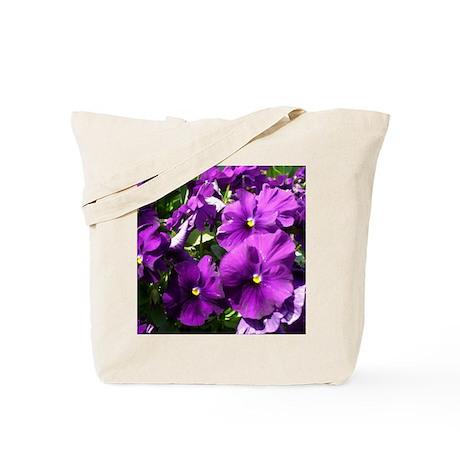 Purple Pansies Tote Bag