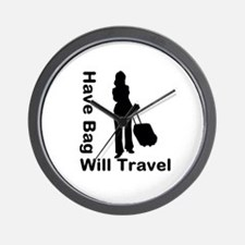 Have Bag, Will Travel Wall Clock