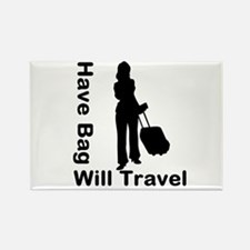 Have Bag, Will Travel Rectangle Magnet