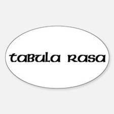 Tabula Rasa Oval Decal