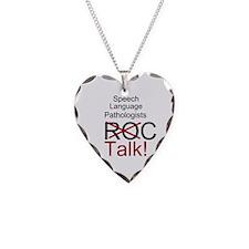 SLPs Talk! Necklace Heart Charm