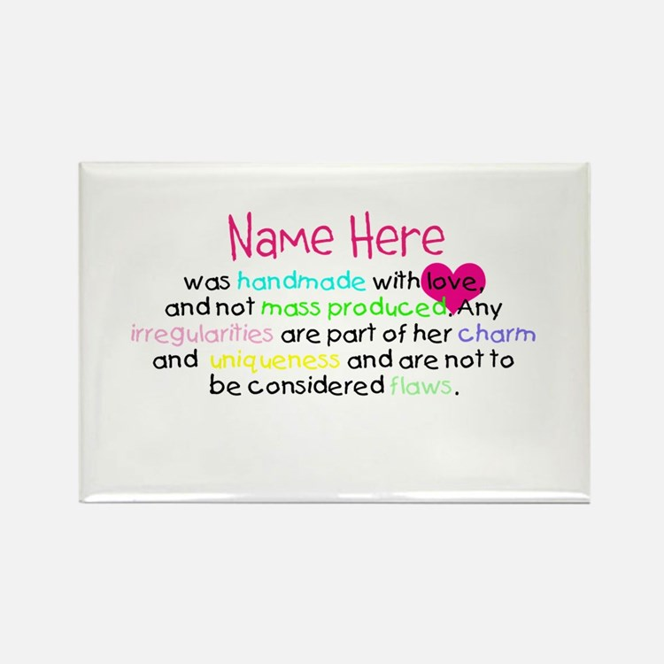Customised Handmade With Love Rectangle Magnet (10