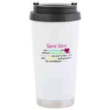 Customised Handmade With Love Travel Mug