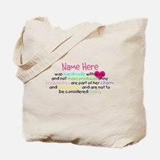 Customised Handmade With Love Tote Bag