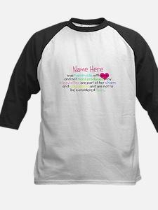 Customised Handmade With Love Kids Baseball Jersey
