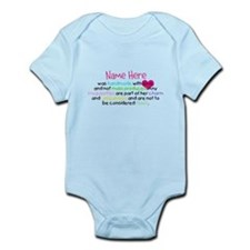 Customised Handmade With Love Infant Bodysuit