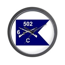 C Co. 6/502nd Wall Clock