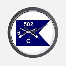 C Co. 6/502nd Wall Clock