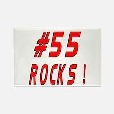 55 Rocks ! Rectangle Magnet