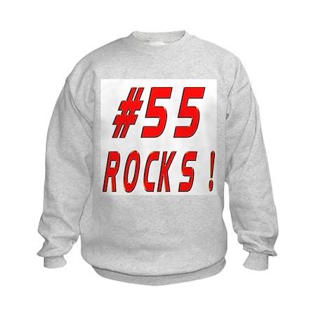 55 Rocks ! Kids Sweatshirt