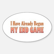 End Game Oval Decal