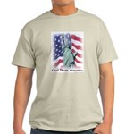 Statue of Liberty t-shirt--ash grey