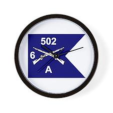 A Co. 6/502 Wall Clock
