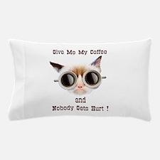 Grumpy Coffee Cat Pillow Case