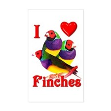Gouldian Finch Rectangle Decal