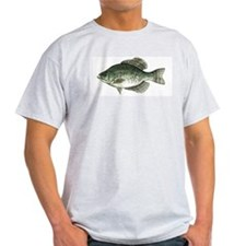 Black Crappie Fish Ash Grey T-Shirt