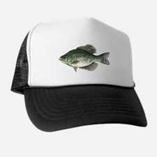 Black Crappie Fish Trucker Hat