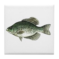 Black Crappie Fish Tile Coaster