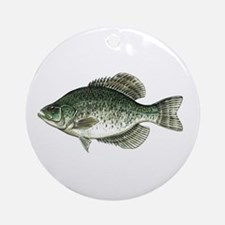 Black Crappie Fish Ornament (Round)