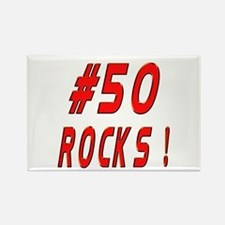 50 Rocks ! Rectangle Magnet