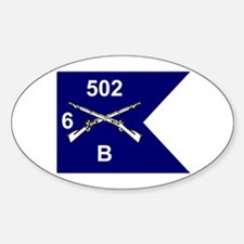 B Co. 6/502nd Oval Decal