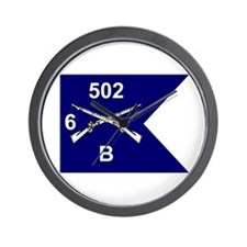 B Co. 6/502nd Wall Clock