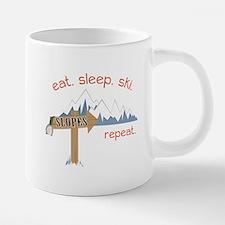 Slopes Eat. Sleep. Ski. Rep 20 oz Ceramic Mega Mug