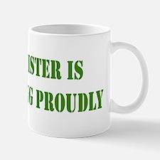 """""""Sister In Military"""" Mug"""