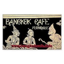 Bangkok Cafe Ferndale Rectangle Decal