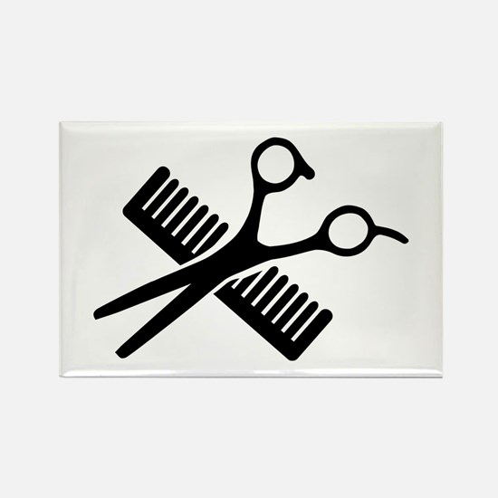 Comb & Scissors Rectangle Magnet