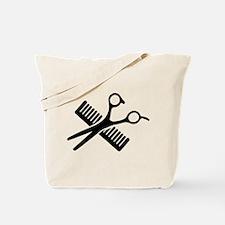 Comb & Scissors Tote Bag